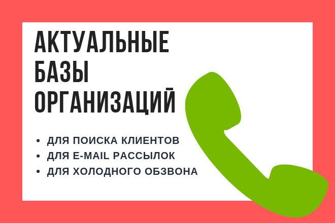 Актуальные базы организаций для рассылок и обзвона 1 - kwork.ru