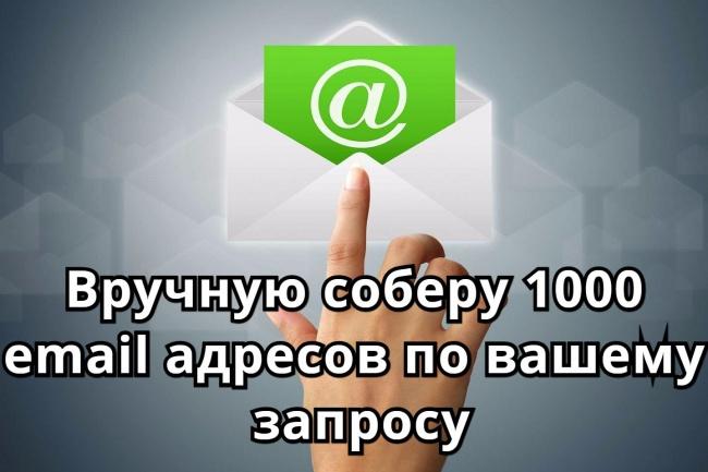 Соберу базу 1000 email адресов по вашему запросу 1 - kwork.ru