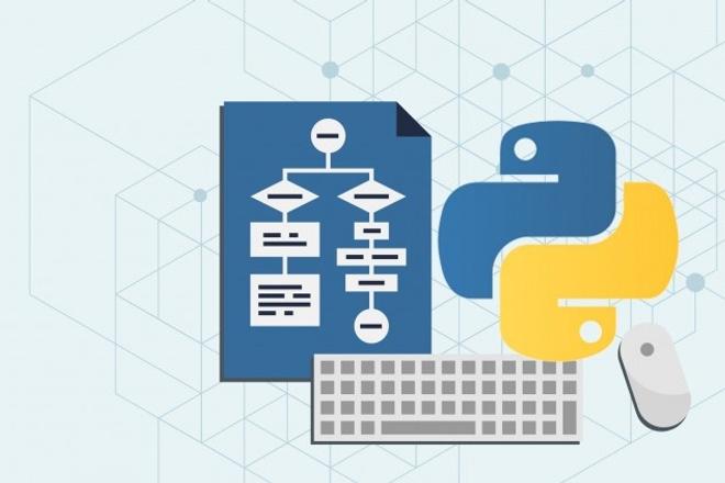 Скрипты на python любой сложности. Алгоритмы, анализ данныхСкрипты<br>Скрипты на python любой сложности. Алгоритмы, анализ данных , machine learning, фреймовики django , flask , web .<br>