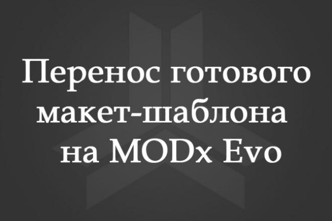 Перенесу готовый макет-шаблон на MODx Evo 1 - kwork.ru
