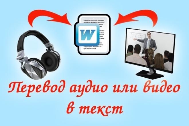 Сделаю транскрибацию с видео, с аудио, с фото 1 - kwork.ru