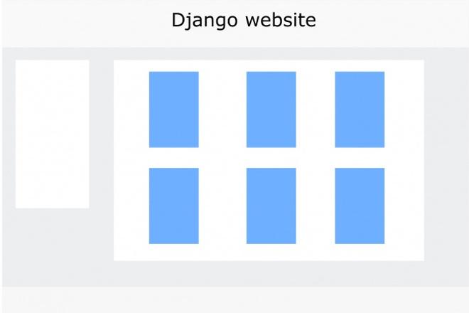 Создам сайт на Django 1 - kwork.ru