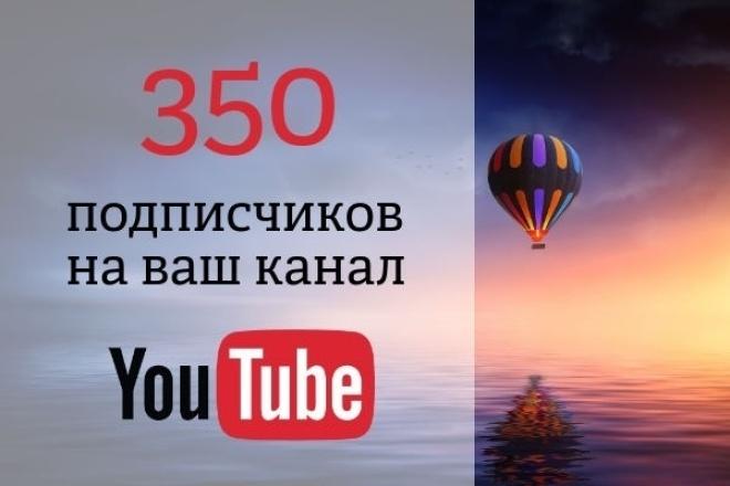 350 подписчиков на ваш YouTube каналПродвижение в социальных сетях<br>Готовы раскрутить свой YouTube канал? Вам помогут в этом 350 новых подписчиков . Приобретая этот kwork, вы гарантированно получаете 350 живых подписчиков на свой канал и все это за 4 дня. Новые, качественные подписчики увеличивают рейтинг вашего канала, а это дает топовые позиции при поисковых запросов на YouTube Что входит в работу: - 350 подписчиков на ваш YouTube канал - Гарантия качества работы - Плавное увеличение числа вступивших - Безопасный режим работы Аудитория: Охват по всему миру, преимущественно русскоязычная аудитория Важная информация Все подписчики живые люди. Поэтому, могут отписаться по своему желанию от канала, но число отписавшихся, составит не более 5%. Данный кворк подойдет для начального получения подписчиков.<br>