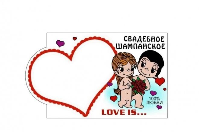 Создам этикетку с вашим фото на различные бутылки 1 - kwork.ru