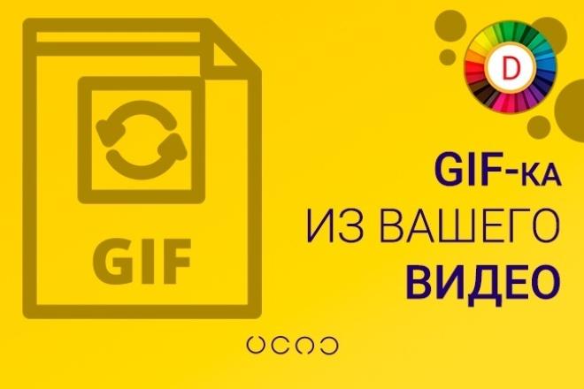 Создам gif-анимацию из видео 1 - kwork.ru
