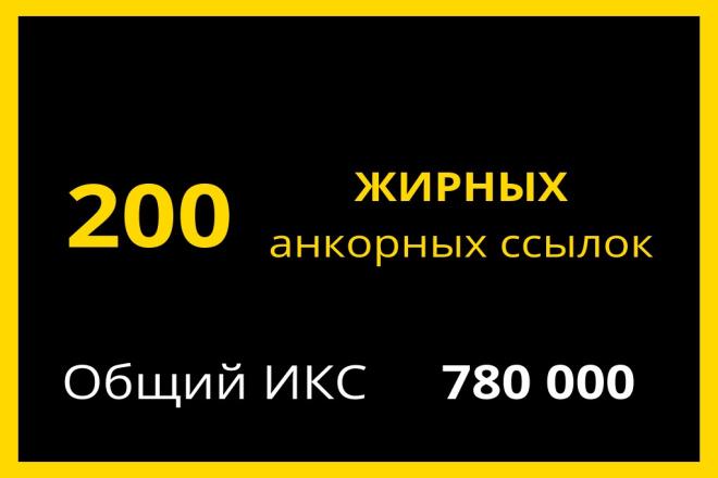 200 Жирных прямых анкорных ссылок 1 - kwork.ru