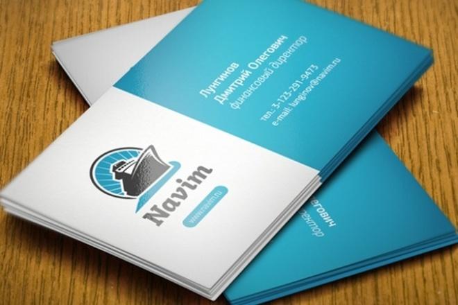 разработаю дизайн визитки в Photoshop 1 - kwork.ru