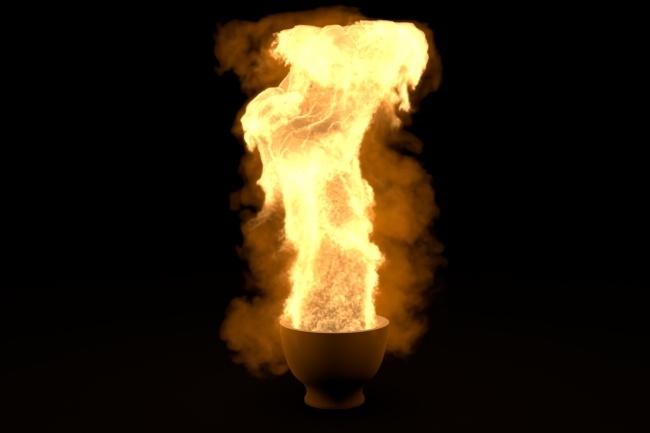 Создам 3D огонь 1 - kwork.ru