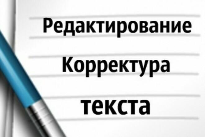 Качественное редактирование текста 1 - kwork.ru