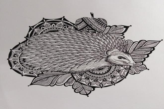 Нарисую индивидуальный эскиз для татуировки 1 - kwork.ru