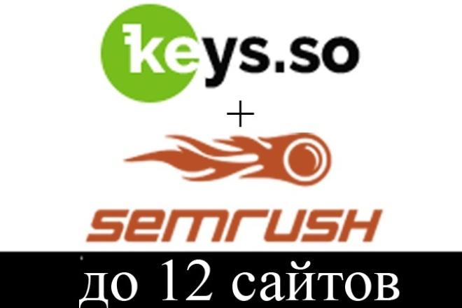 Выгружу все запросы конкурентов в Keys.so + SemRush.com 1 - kwork.ru