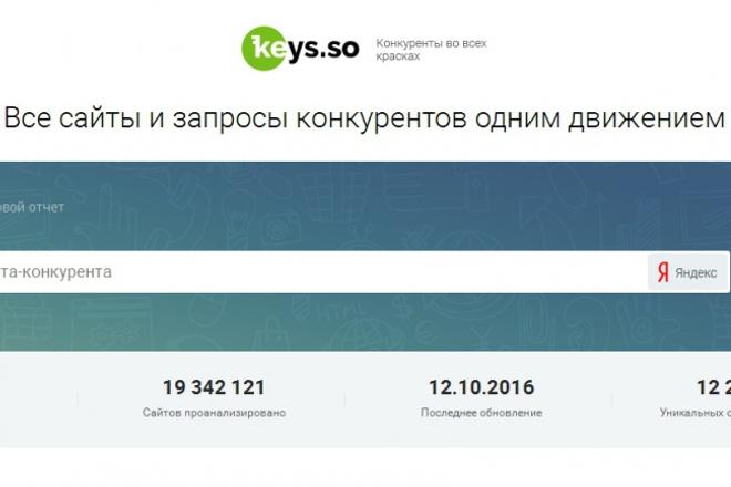 Выгружу запросы конкурентов из сервиса Keys.so 1 - kwork.ru