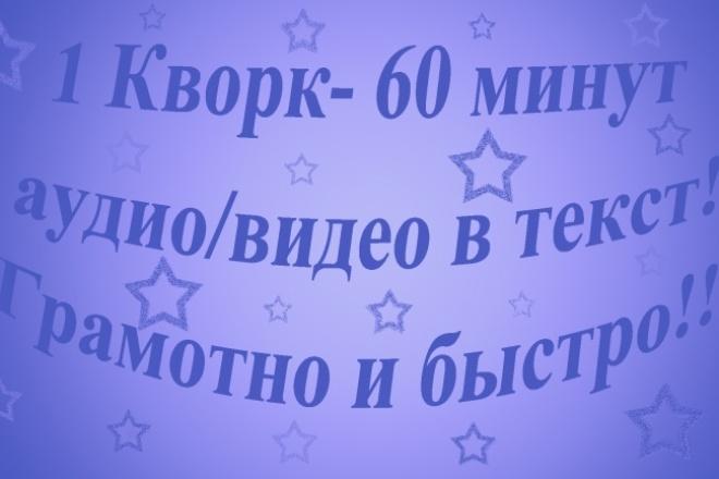 Грамотно и быстро перепечатаю текст из АУДИО, ВИДЕО 1 - kwork.ru