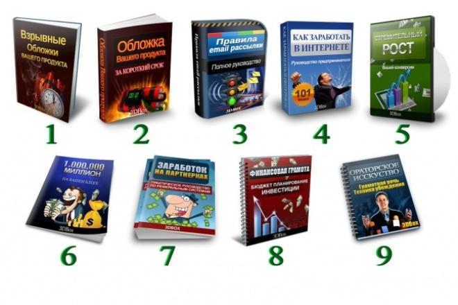 Быстро сделаю 3D-упаковку для Вашего инфопродукта, книги, DVD диска 1 - kwork.ru