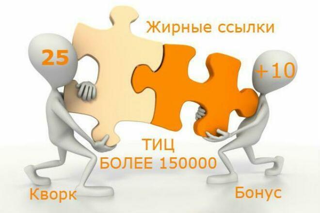 25 супер жирных ссылок. Общий ТИЦ сайтов более 150.000 1 - kwork.ru