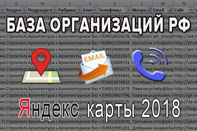 Сбор организаций РФ по указанной категории. Название, адрес, телефон, сайт, e-mail 1 - kwork.ru