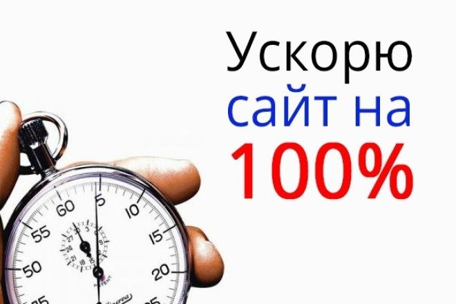 Ускорю ваш сайт на 100% 1 - kwork.ru