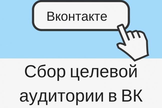 Соберу целевую аудиторию в Вконтакте 1 - kwork.ru