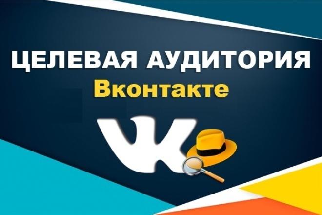 Соберу вашу целевую аудиторию из Вконтакте 1 - kwork.ru