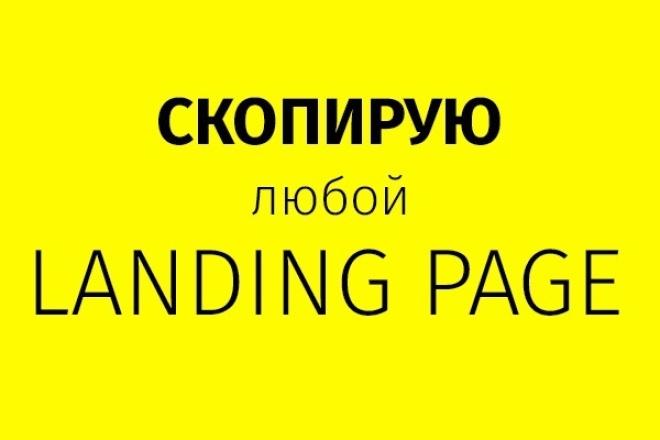 Скопирую Landing Page (Лендинг) 1 - kwork.ru