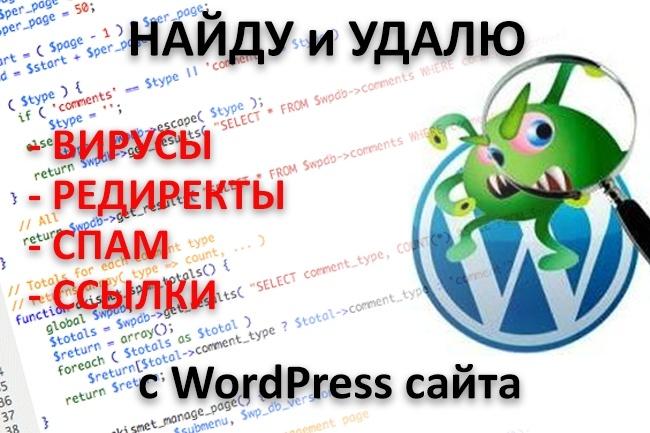 Найду и Удалю вирусы с Wordpress 1 - kwork.ru