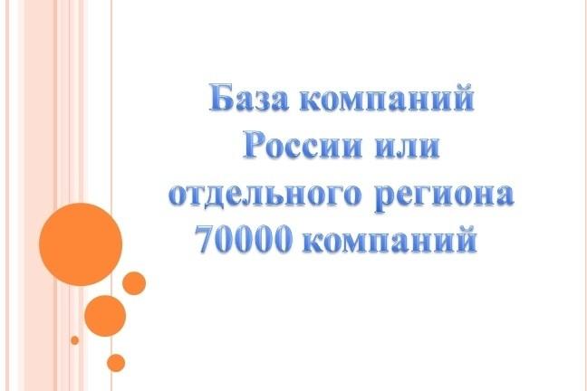 База компаний города или отдельного региона Pоссии 1 - kwork.ru