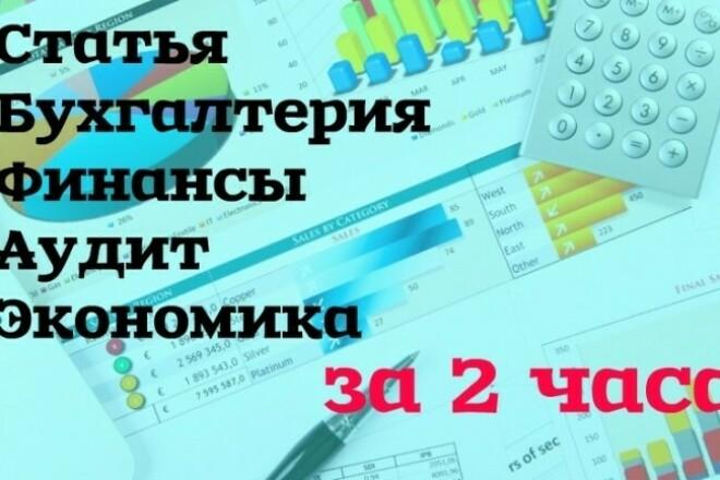 Статья бухгалтерия, экономика, финансы 1 - kwork.ru