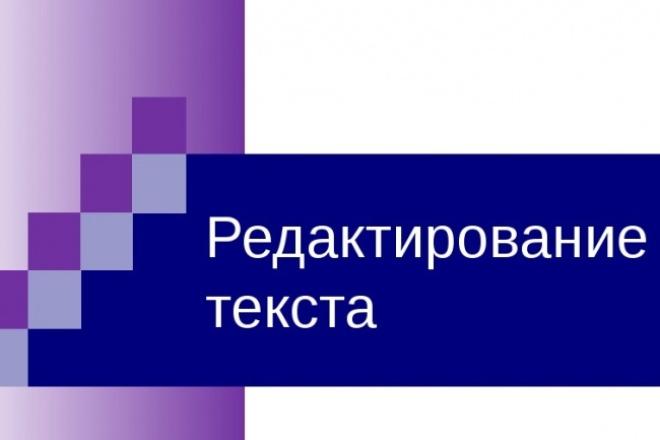 Отредактирую, конвертирую Ваш текст 1 - kwork.ru