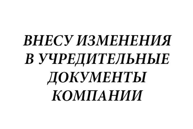 Внесу изменения в учредительные документы компании или данные егрюл 1 - kwork.ru