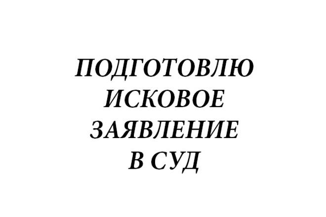 Подготовлю исковое заявление 1 - kwork.ru