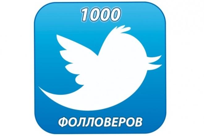 1000 подписчиков в Twitter (Не боты) 1 - kwork.ru