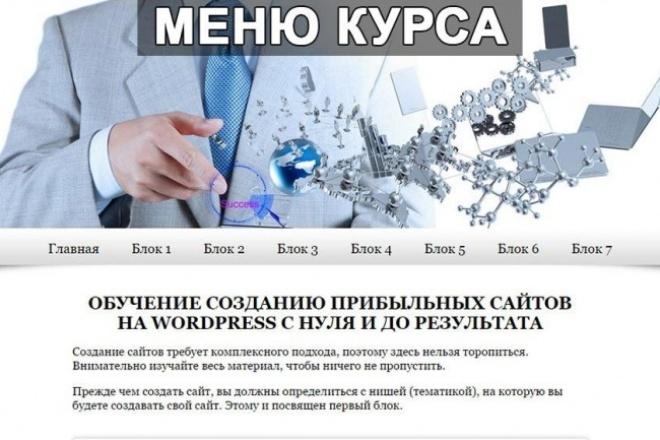 Обучение созданию сайтов на wordpress 1 - kwork.ru