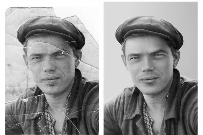 Реставрация старых фотографийОбработка изображений<br>Приветствую Вас! Качественно отреставрирую старую, испорченную фотографию. Срок от 1 до 7 дней. Зависит от сложности работы. Учитываю все пожелания и предложения клиентов.<br>