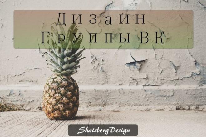 Оформлю Вашу группу VK 1 - kwork.ru