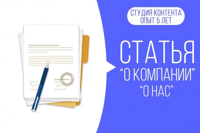 Напишу текст О компании, О вас 1 - kwork.ru