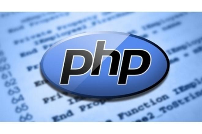 Напишу скрипт php скриптСкрипты<br>Напишу скрипт php для различных целей задействуя различные технологии. Займусь отладкой и тестингом скрипта, так что вы получаете только качественный продукт.<br>
