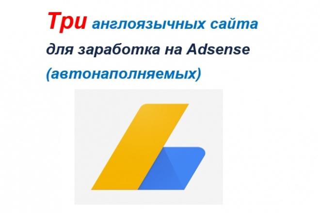 Три англоязычных автонаполняемых сайта + бонус 7 - kwork.ru