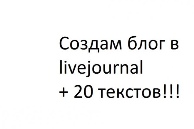 Создам блог в   livejournal  и добавлю туда 20 текстов из интернета 1 - kwork.ru