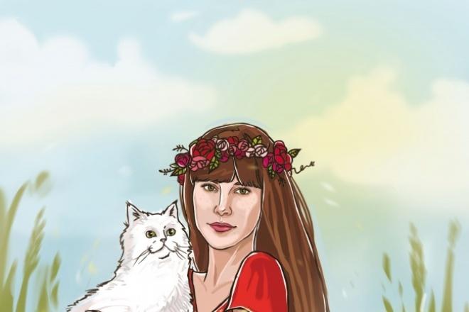 Нарисую портрет в PS 1 - kwork.ru