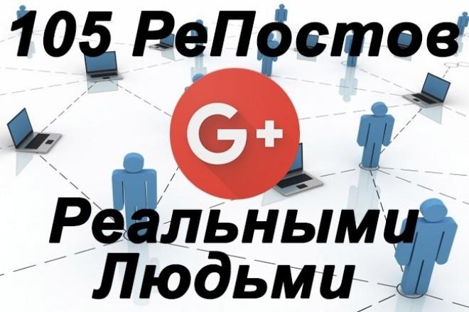 105 репостов с Гугл плюс реальными людьми 1 - kwork.ru