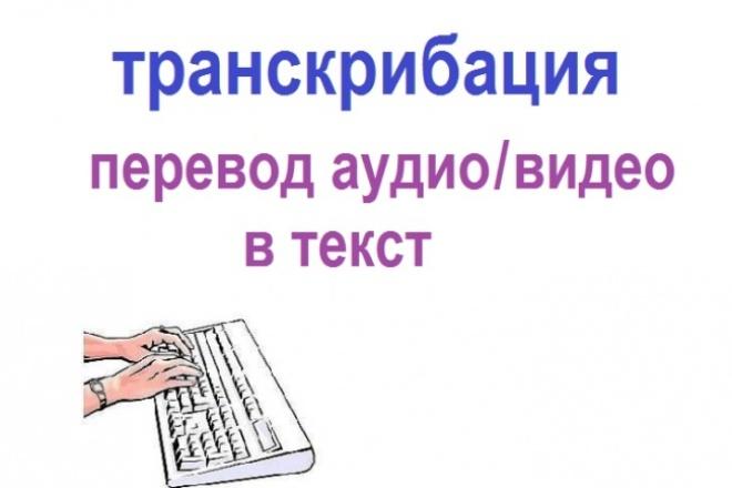 Переведу аудио / видео в текст  (транскрибация) 1 - kwork.ru