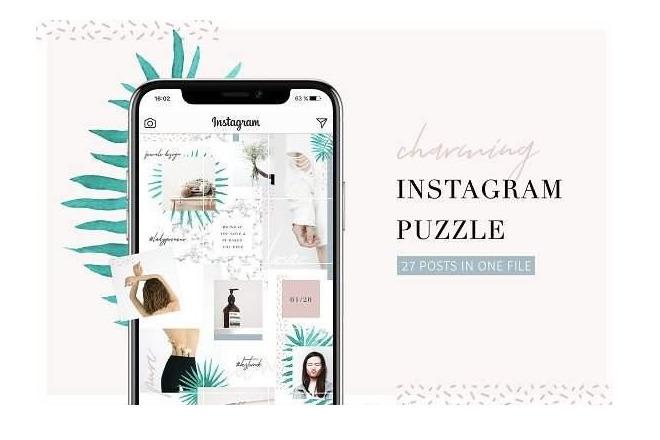 Бесконечный дизайн для Инстаграм, шаблон для 27 постов 1 - kwork.ru