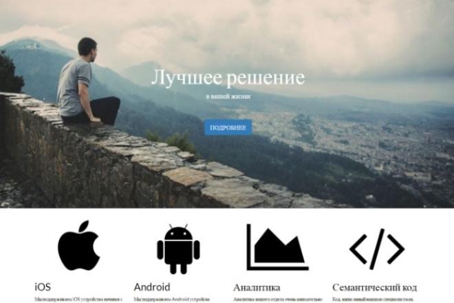 Уникальный дизайн одностраничного сайта/landing page 1 - kwork.ru