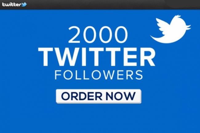 Добавлю 2000 фолловеров (читателей, подписчиков) в Twitter Твиттер 1 - kwork.ru