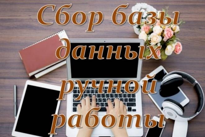 Сбор базы данных вручную по Вашим критериям 1 - kwork.ru