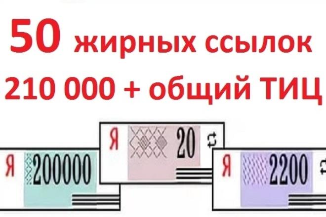 50 жирных ссылок + бонус Общий ТИЦ 210 000 1 - kwork.ru