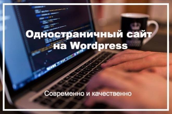 Одностраничный сайт на Wordpress под ключ 1 - kwork.ru