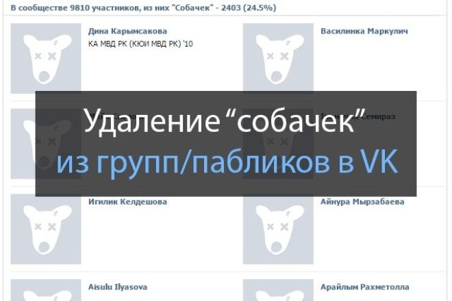 Удаление собачек из группы/паблика VK 1 - kwork.ru