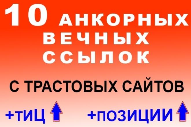 анкорные вечные трастовые ссылки - 10 штук 1 - kwork.ru