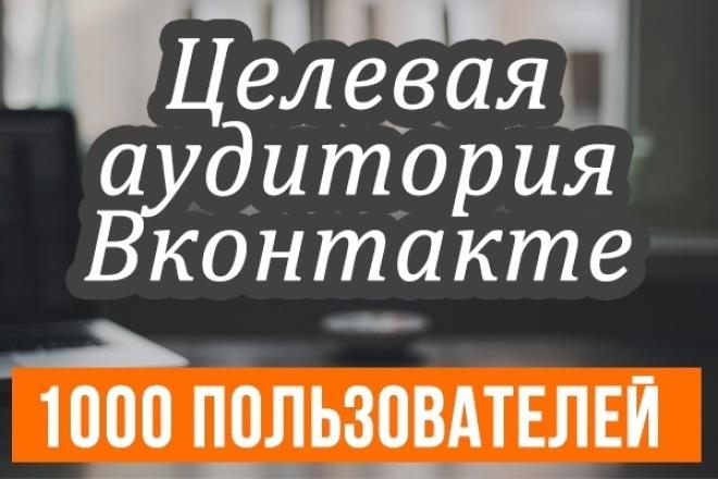 найду целевую аудиторию ВКонтакте 1 - kwork.ru